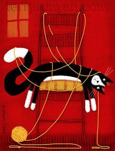 littlechien via terryrunyan terryrunyan:  ENOUGH—Terry Runyan Art Prints: http://society6.com/TerryRunyan/ENOUGH_Print#1=1