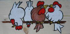 kippen op stok tekening - Google zoeken