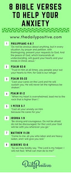 8 Bible Verses To Help Your Anxiety - The Daily Positive