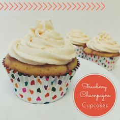 Strawberry Champagne Cupcakes - Powered by @ultimaterecipe