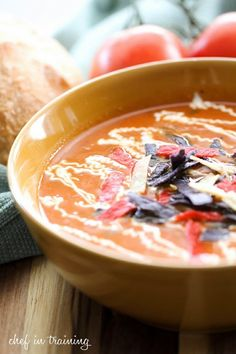 Copycat Paradise Bakery Fire Roasted Tomato Soup Recipe by Chef in Training