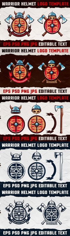 Warrior Logo, Viking Designs, Helmet Logo, Viking Helmet, Backgrounds Free, Logo Color, Logo Templates, Design Elements, Vikings