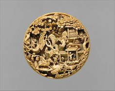 Medallion with Return from a Spring Outing | China | Ming dynasty (1368–1644) | The Metropolitan Museum of Art