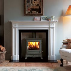 Chesneys Beaumont Multifuel Stove in Black - Wood Burning Fireplace Inserts Wood Burner Fireplace, Wood Burning Fireplace Inserts, Fireplace Mantels, Fireplaces, Mantles, Fireplace Ideas, Wood Burning Stoves, Bedroom Fireplace, Living Room With Fireplace