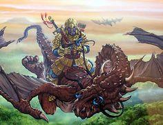 Seanchan warrior riding on a Raken