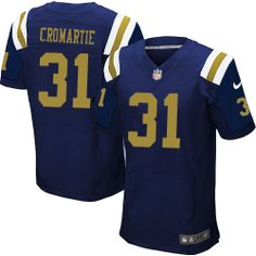 NFL New York Jets  31 Antonio Cromartie Elite Blue Men Jersey Mark Sanchez 2d326af5c
