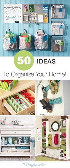 50 Ideas to Organize Your Home   Pinterest Goodies