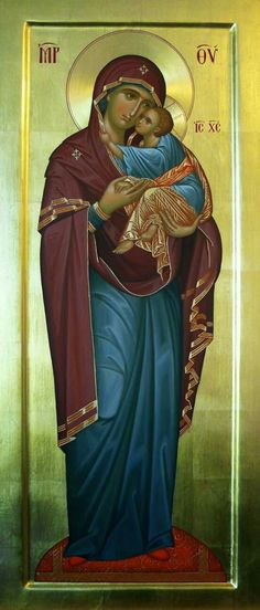 The Mother Of Christ by Father Vassall-Phillips Part Mother Of Christ, Blessed Mother, Mother Mary, Mother And Child, Religious Icons, Religious Art, Writing Icon, Roman Church, Byzantine Icons