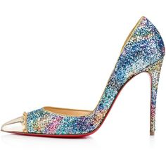CULTURELLA GLITTER, HORIZON/GOLD, Glitter, Women Shoes, Louboutin. (4,320 CNY) ❤ liked on Polyvore featuring shoes, heels, d orsay shoes, yellow gold shoes, gold special occasion shoes, mini shoes and evening shoes