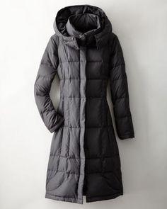 Garnet Hill Modern Long Down Coat