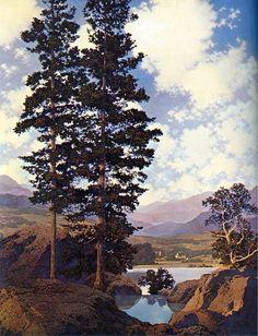 maxfield parrish prints for sale   Maxfield Parrish Paintings - Maxfield Parrish Thy Templed Hills ...