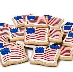 Patriotic flag decorated cookie assortment for your of July picnics coming… Blue Cookies, Crazy Cookies, Summer Cookies, Iced Cookies, Royal Icing Cookies, Cupcake Cookies, Heart Cookies, Cupcakes, American Flag Cookies