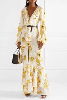 Johanna Ortiz | Spice Trade ruffled floral-print silk-crepe gown | NET-A-PORTER.COM