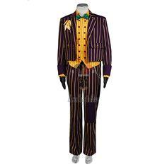 Batman Arkham Asylum Joker Cosplay Costume Coat Suit --- Batman Cosplay Costume