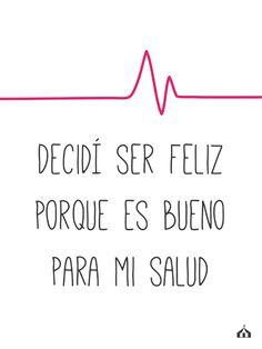 """Cuadro con frase """"Decidí ser feliz"""" — La Kermesse  #Frases #inspiracion #FelicidadEsSalud #Decor #Hogar"""