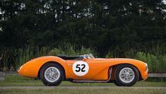 lovely orange 1955 Aston Martin DB3S