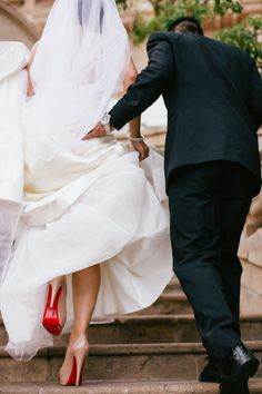 Peek at the Red Sole! Oh my yes! I love this picture! By that time I'm sure I will have a lot more bloody bottoms! And a new pair for our wedding:)