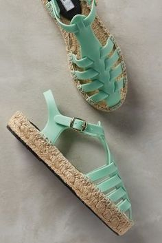 Miista Ariella Espadrilles Mint #anthroregistry