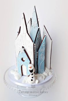 gingerbread house cookie house frozen anna elsa ice
