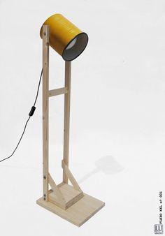 Stehleuchte Senf  Licht Kiefer Holz handgefertigte / von ILIUI