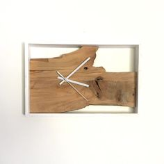 W Contemporary Clock by GrayBayGoods on Etsy