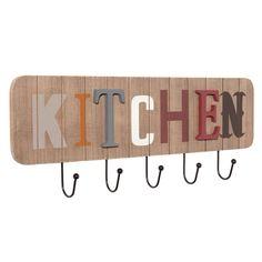 Kitchen kleerhaak 4 haken