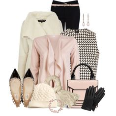 """""""Houndstooth and Pearls"""" by cathy0402 on Polyvore"""