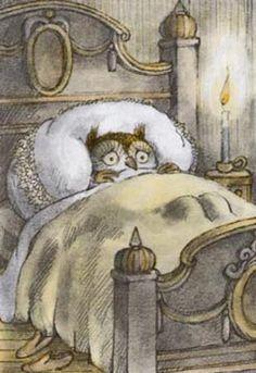 Owl can't sleep.