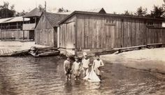The boathouses at Barnhart's