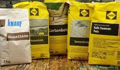 Anleitung DIY Basteln mit Beton - Mörtel Zement Estrich Putz