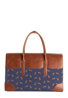 Clever Endeavor Weekend Bag. Aim for cute commuting with this charming  fox-print weekend c3c074d403e74
