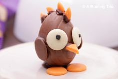 How to make a chocolate Easter chick with mohawk