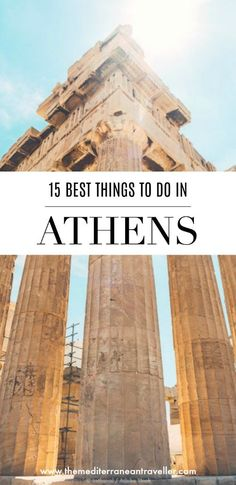 Athens is one of the most famous capital cities in Europe thanks to its blockbuster ancient history and is becoming increasingly popular as a city break destination. And rightly so (I love it!). But what else is there to see except the Acropolis? Here's my bucketlist top 15 things to see, eat and do whilst you're in Athens, from exploring pretty Plaka, rooftop cocktail bars, finding mysterious (and Instagrammable) Anafiotika, and eating the best souvlaki in town. #athens #greece #bucketlist