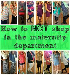 How to NOT shop in the maternity department.  Tips to mix non maternity clothes with maternity clothes throughout pregnancy.