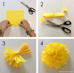 Tissue Flowers, Paper Flowers Craft, Paper Flower Wall, Flower Wall Decor, Flower Crafts, Diy Flowers, Christmas Origami, Christmas Paper Crafts, Diy Home Crafts