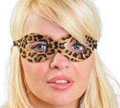 Máscara com textura de oncinha, para intensificar seus sentidos eróticos. - Um produto com a qualidade Sensual Import