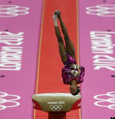 Gabrielle Douglas  U.S. gymnast Gabrielle Douglas performs on the vault during the Artistic Gymnastic women's individual all-around competition at the 2012 Summer Olympics, Thursday, Aug. 2, 2012, in London.