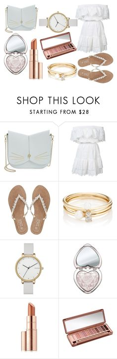 """Sans titre #4"" by isaline-de-soie on Polyvore featuring mode, Ted Baker, LoveShackFancy, M&Co, Loren Stewart, Skagen, Too Faced Cosmetics, Estée Lauder et Urban Decay"