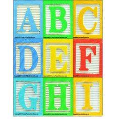 Alphabet Blocks Letter Cards Back To School Activity