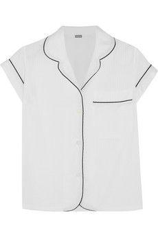 Bodas Seersucker cotton pajama top   NET-A-PORTER $105