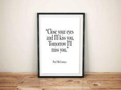 Paul McCartney song Lyrics Romantic Art Music by MarketSecrets