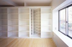 sliding shelves layered