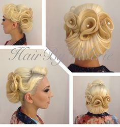 Compkicated Bridal hair look. Kool