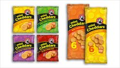 Mini Cheddars biscuit packaging design  25 Crunchy Biscuits & Cookies Packaging Design Ideas