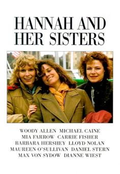 Hannah and Her Sisters: 1986. Allen's film about three sisters and the men in their life. Different feel from some of his earlier films but with some of the same gags and jokes. Very enjoyable. (296/1001)