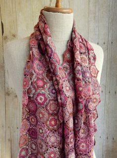 """Mantra"" scarf by Sophie Digard"