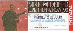 Valencia 1999/07/02 Valencia, Mike Oldfield, Tours, Cover, Music, Musica, Musik, Muziek, Music Activities
