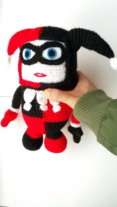"vHARLEY QUINN PLUSH   ""I'd just to like to say, if there were no Batman, there'd be no Joker and I never woulda met my Puddin!! Thankyou, Batman!"""