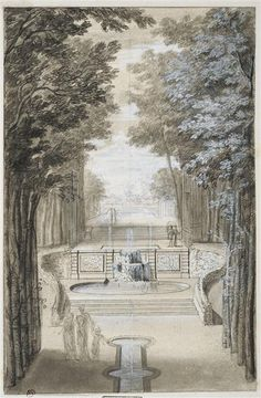 View of a bosquet Anonymous, 17th C. French School