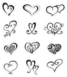Easy Tattoo Designs | simple heart tattoo designs